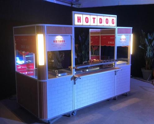 Mobiele hotdogkar - verrijdbare kraam