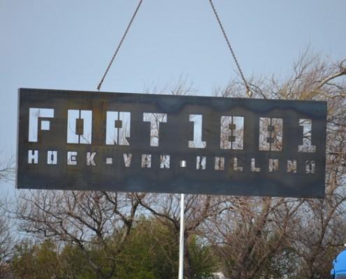 Bedrijfsnamenbord - Logo - Fort 1881 - Hoek van Holland