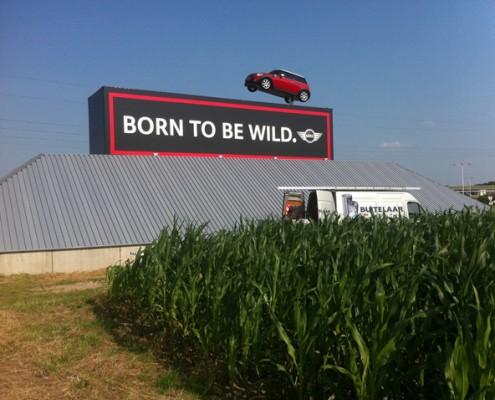 Bedrijfsreclame MINI BORN - to be wild