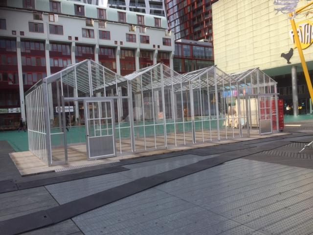 Verhuur Pop up kas 12 x 6 meter - Wereldvoedseldag Rotterdam