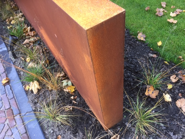 Cortenstalen elementen tuin - Aspar