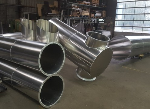 Rvs Aluminium collector kanaalwerk ketelhuis - Jac. Solleveld