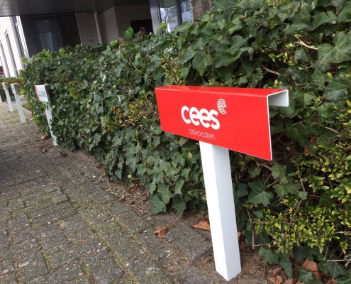 Parkeerbordjes - Buitenreclame - Cees Advocaten