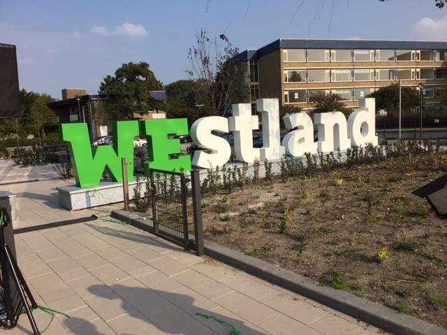 3D Letters van metaal - WEstland - Gemeentehuis Naaldwijk #we