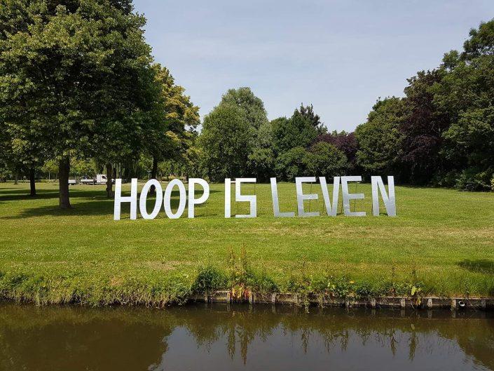 Letters Hoop is leven - Samenloop voor hoop