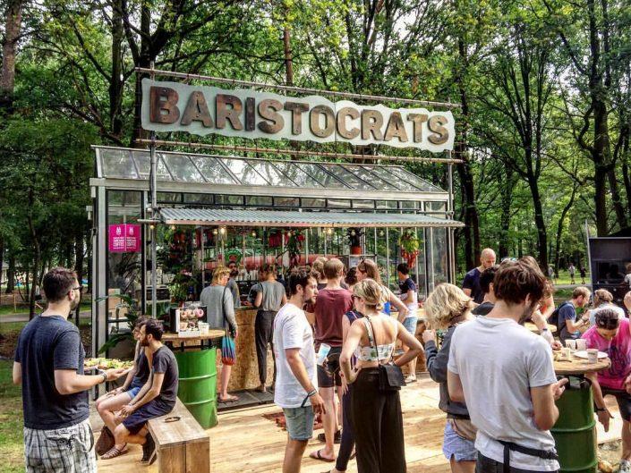 Baristocrats - Kasverhuur 3 x 6 meter met luifel