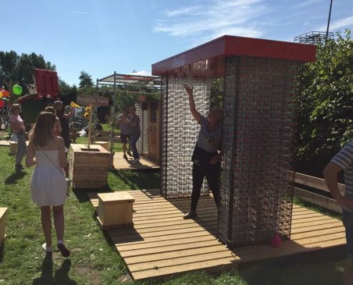 Festival outdoor spel Stokvangen Recycling - Boozed